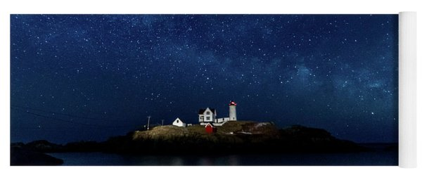 Light Up Nubble Lighthouse Yoga Mat
