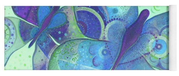 Lighthearted In Blue Yoga Mat