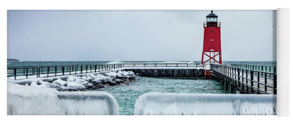 Lighthouse And Ice Yoga Mat