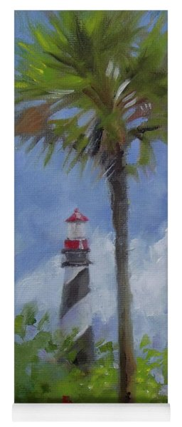 Lighthouse And Palms Yoga Mat
