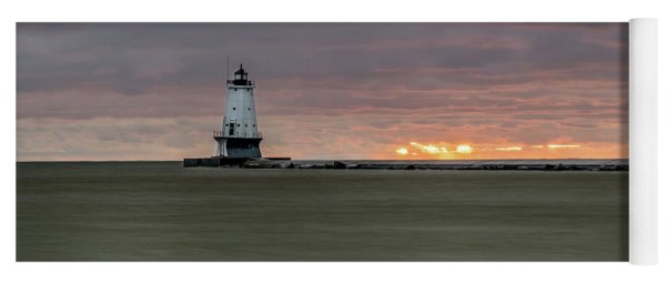 Lighthouse And Sunset Yoga Mat