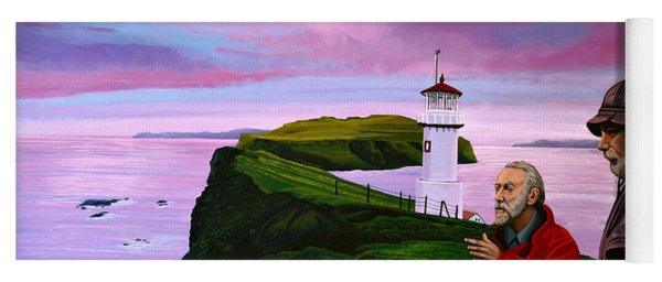 Lighthouse At Mykines Faroe Islands Yoga Mat