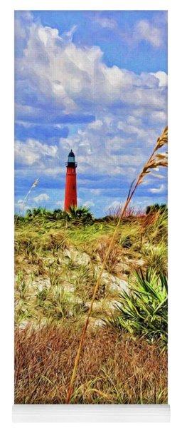 Lighthouse Beach Grasses Yoga Mat