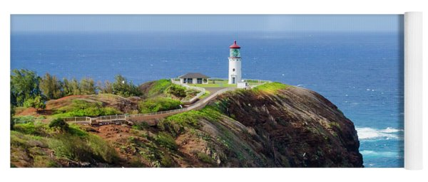 Lighthouse On A Cliff Yoga Mat