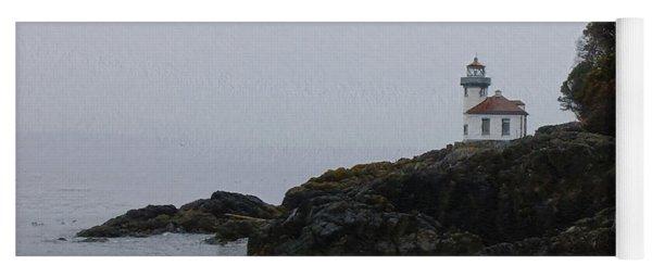 Lighthouse On Rainy Day Yoga Mat