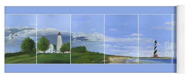 Lighthouse Panels Yoga Mat
