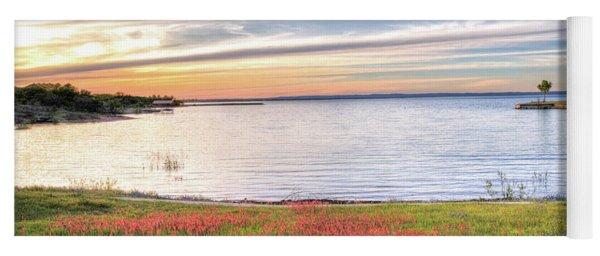 Lighthouse Sunset At Lake Buchanan Yoga Mat