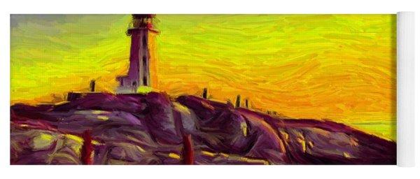 Lighthouse Sunset Yoga Mat