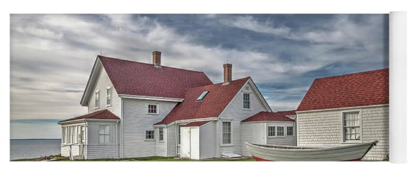 Keepers House At The Monheagn Lighthouse Yoga Mat