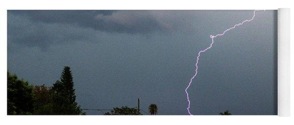 Lightning Bolt Illuminates The Sky Yoga Mat