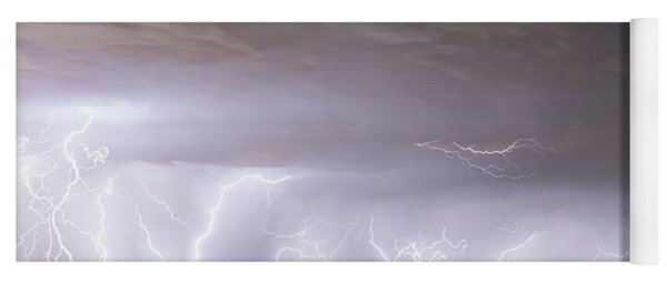 Lightning Thunderstorm Extreme Weather Over Golden Colorado Yoga Mat