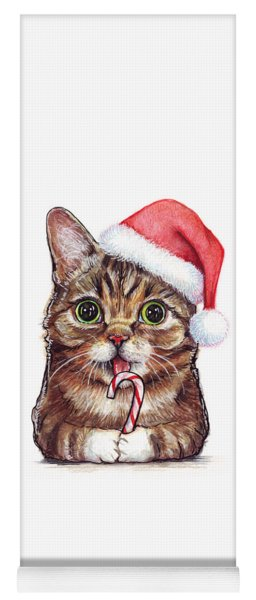 Cat Santa Christmas Animal Yoga Mat