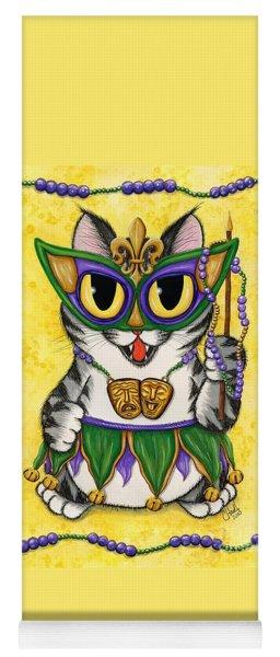 Lil Mardi Gras Cat Yoga Mat