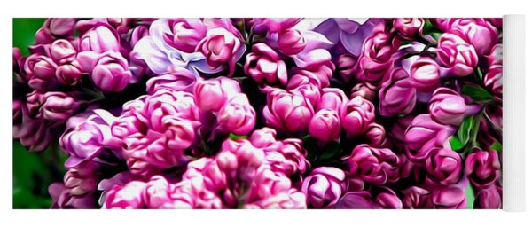 Lilac Blossoms Abstract Soft Effect 1 Yoga Mat