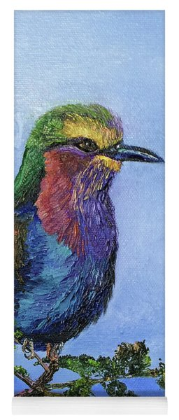 Lilac Breasted Roller Yoga Mat