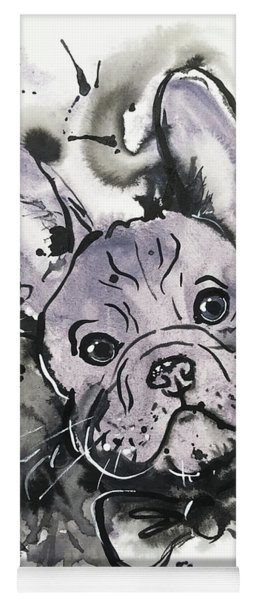 Lilac Frenchie Yoga Mat
