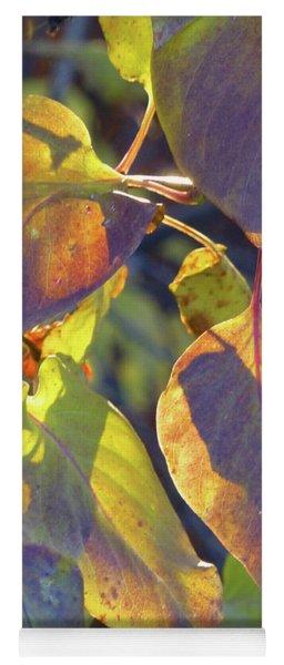 Lilac Leaves Yoga Mat