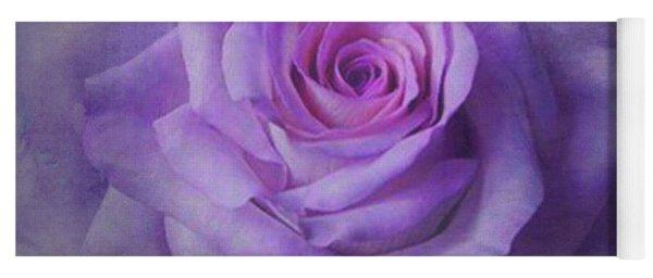 Lilac Purple Rose Yoga Mat