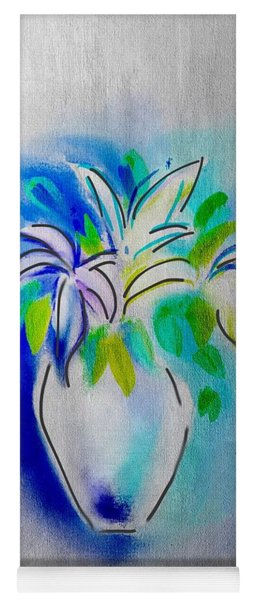 Lilies Abstract Yoga Mat