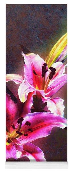 Lilies At Night Yoga Mat