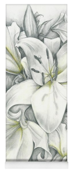 Lilies Pencil Yoga Mat