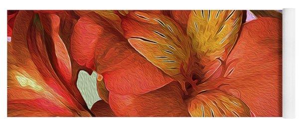 Lily Bouquet In North Light Yoga Mat
