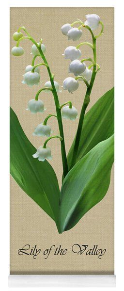 Lily Of The Valley Botanical Yoga Mat