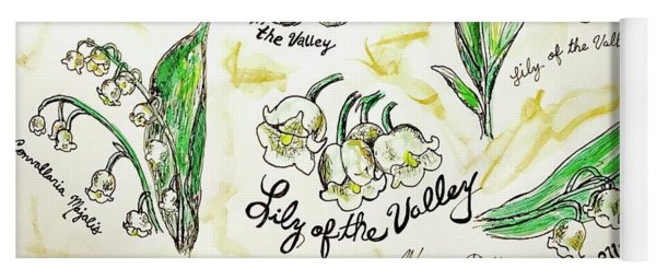 Lily Of The Valley Yoga Mat