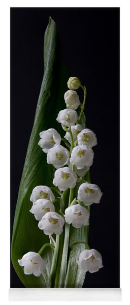 Lily Of The Valley On Black Yoga Mat