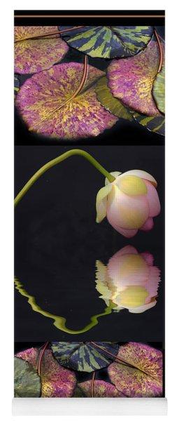Lily Pond Triptych II Yoga Mat