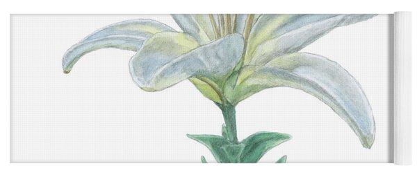 Lily Watercolor Yoga Mat