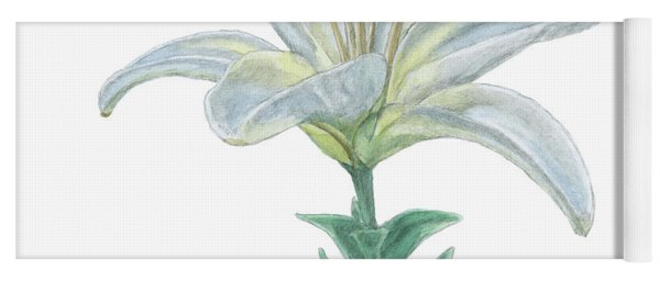 Lily Watercolor Yoga Mat