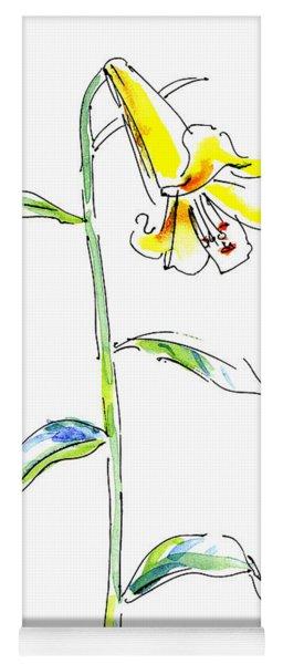 Lily Watercolor Painting 2 Yoga Mat