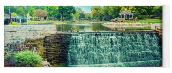 Lime Kiln Park Waterfall Yoga Mat