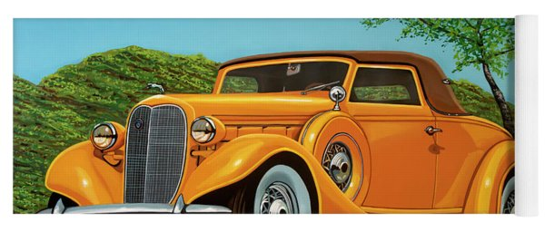 Lincoln K Convertible 1935 Painting Yoga Mat