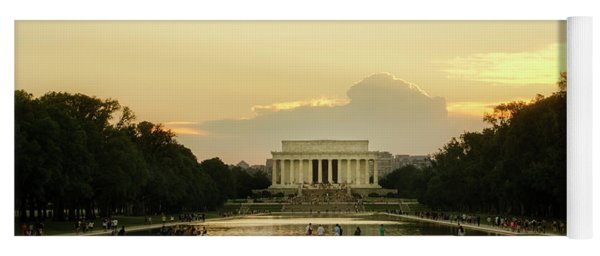 Lincoln Memorial Sunset Yoga Mat