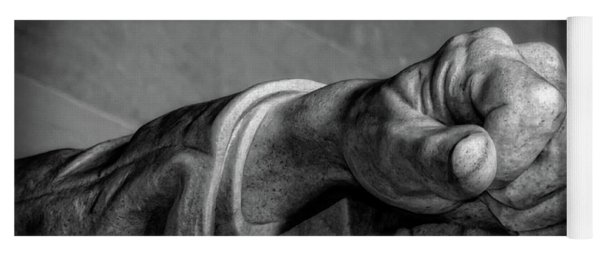 Lincoln's Left Hand B-w Yoga Mat
