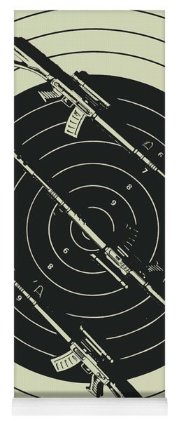 Line Art Rifle Range Yoga Mat