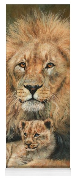 Lion And Cub Yoga Mat