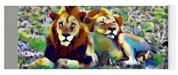 Lion Buddies Yoga Mat