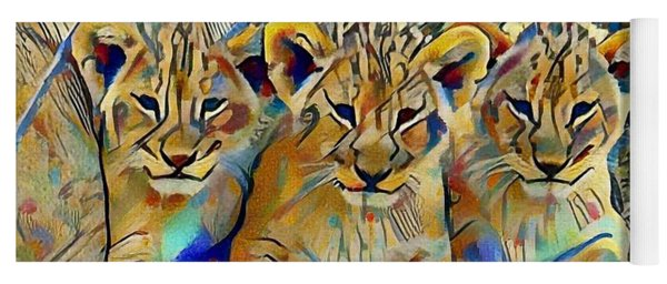 Lion Cubs Yoga Mat