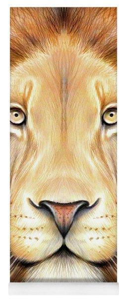 Lion Head In Color Yoga Mat