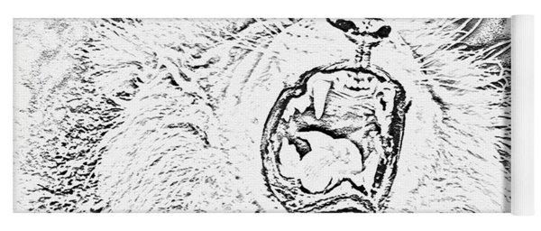 Lion Roar Drawing Yoga Mat