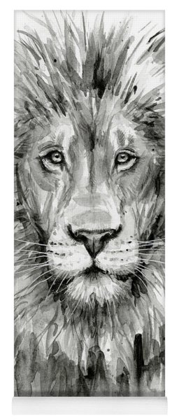 Lion Watercolor  Yoga Mat