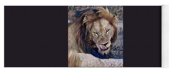 Lion With Tongue Yoga Mat