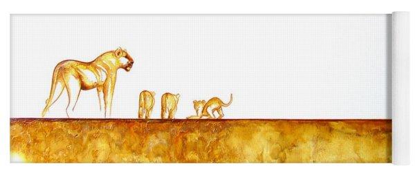 Lioness And Cubs - Original Artwork Yoga Mat