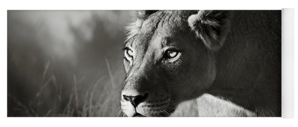 Lioness Stalking Yoga Mat