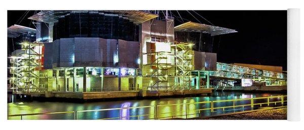 Lisbon - Portugal - Oceanarium At Night Yoga Mat