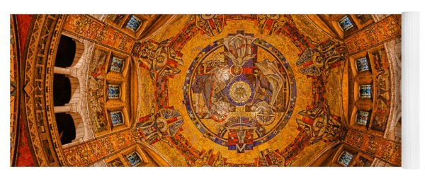 Lisieux St Therese Basilica Dome Ceiling Yoga Mat