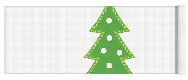 Lit Christmas Tree- Art By Linda Woods Yoga Mat